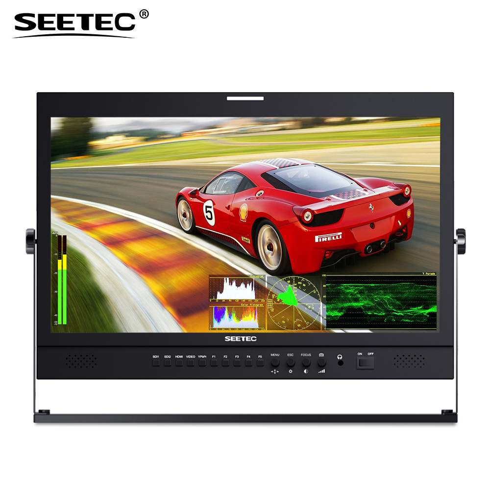 Seetec P215-9DSW 21.5Inch IPS FHD1920x1080 Broadcast Monitor with 3G-SDI HDMI Waveform Vector Scope Histogram Production Monitor