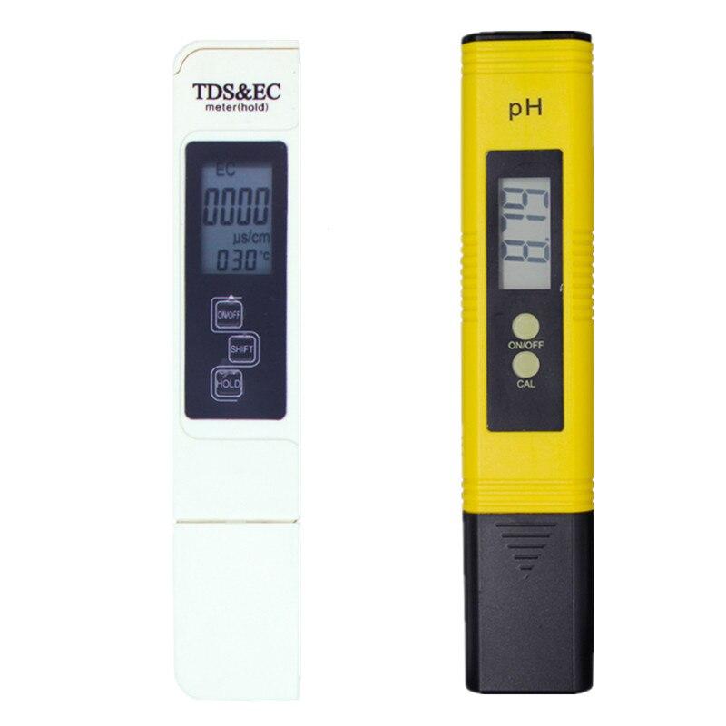 Portable LCD Numérique PH Mètre 0.01 + TDS ce Testeur Stylo l'eau Pureté PPM Filtre Hydroponique pour Aquarium Piscine Vin D'urine 40%