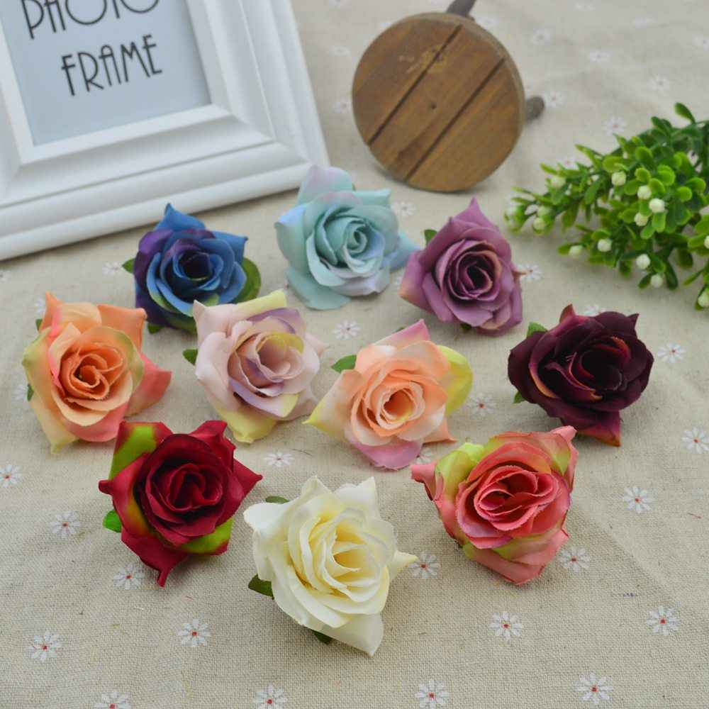 Silk roses head christmas decora for home accessories wedding scrapbooking fake diy gifts cheap Vintage Artificial flowers