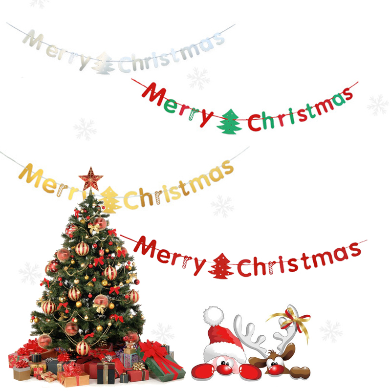3m merry christmas letters paper garlands party decoration christmas tree supplieschina mainland