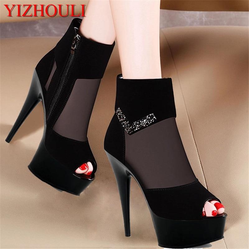 bigger sizes 15cm high heel shoes