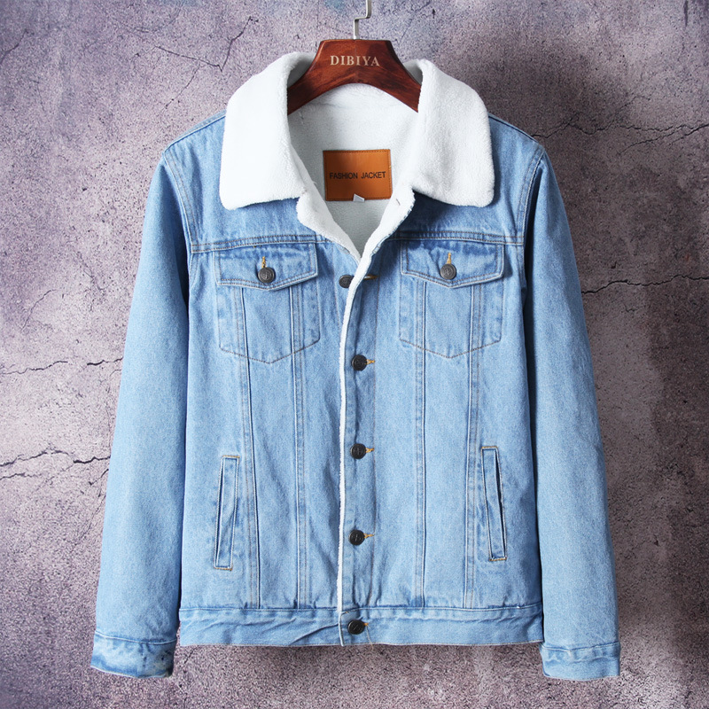 D'hiver Coton Plus Shirt Automne Manches Chemise Épais Hommes Black Denim 100 À De Et Longues blue Velours Chaude Y1208 8B8q1Aw