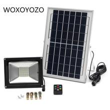 Светодиодный прожектор, уличный Точечный светильник на солнечной батарее, прожсветильник Тор с дистанционным управлением, 10 Вт, 20 Вт, 30 Вт, 50 Вт, RGB, IP65, водонепроницаемый, 220 В