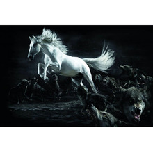Diy diamond painting Horse and wolves Diamond Embroidery 5d pictures full mosaic,square Rhinestones Y0918