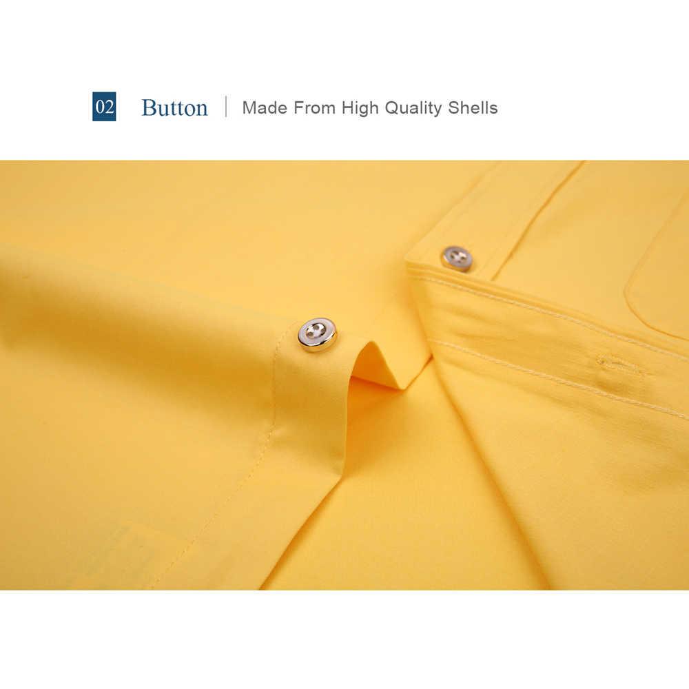 Alimens & ジェントルメンズフレンチカフドレスシャツ男性長袖無地ストライプスタイルカフスボタンは 2019 ファッション新