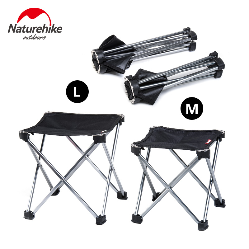 Naturehike Stool Folding Barbecue Chair Ultralight Portable folding Chairs Camping Hiking outdoor backrest Stool 2