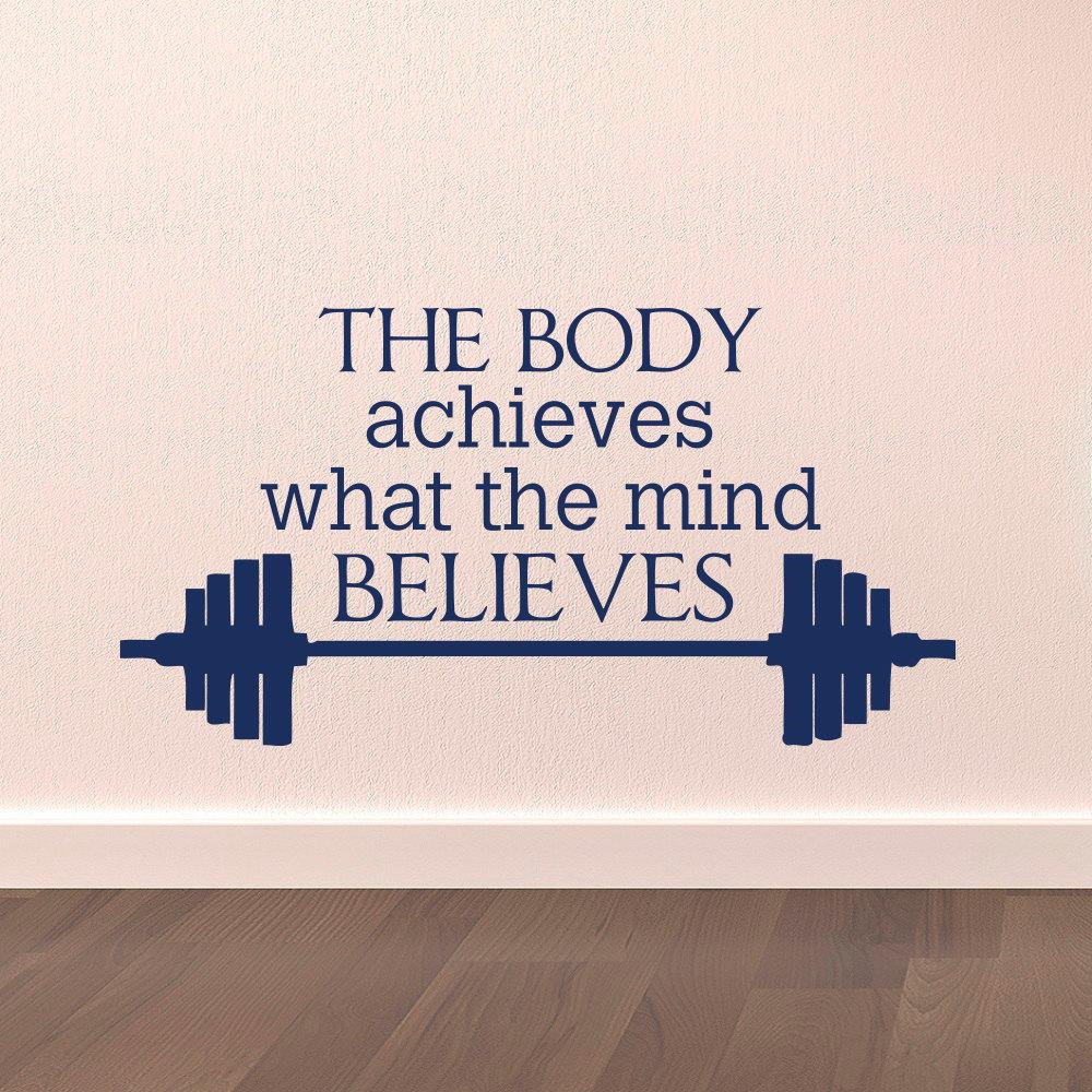 Gym Wandtattoo Sport Zitiert Der Körper Erreicht Was Die Geist