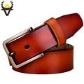 Nuevo 2017 Vaca cinturones de cuero Genuino para las mujeres de Lujo de La Moda Pin hebilla de la correa Marca faja cinturón mujer de Diseño de Alta calidad