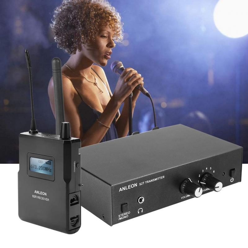 Per ANLEON S2 UHF Stereo Wireless Monitor di Sistema In-Ear Sistema di 670-680 mhz 100-240 v