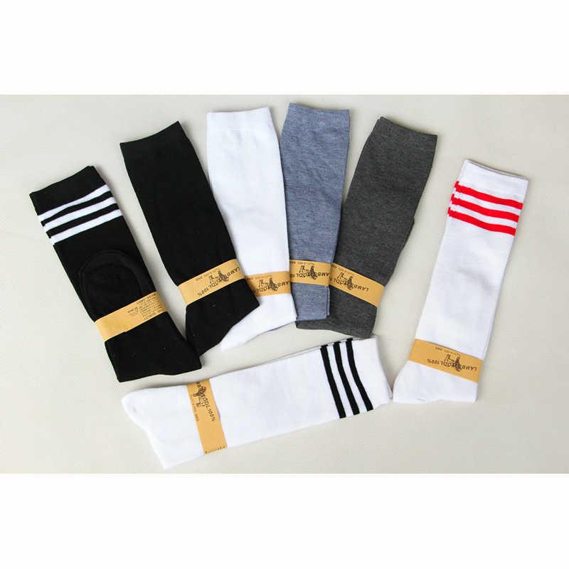 14a61fa38 ... Anime Cosplay Stockings Black White Blue Red Stripe Stocking Japanese  Cartoon Stockings For Women Girls Cotton ...