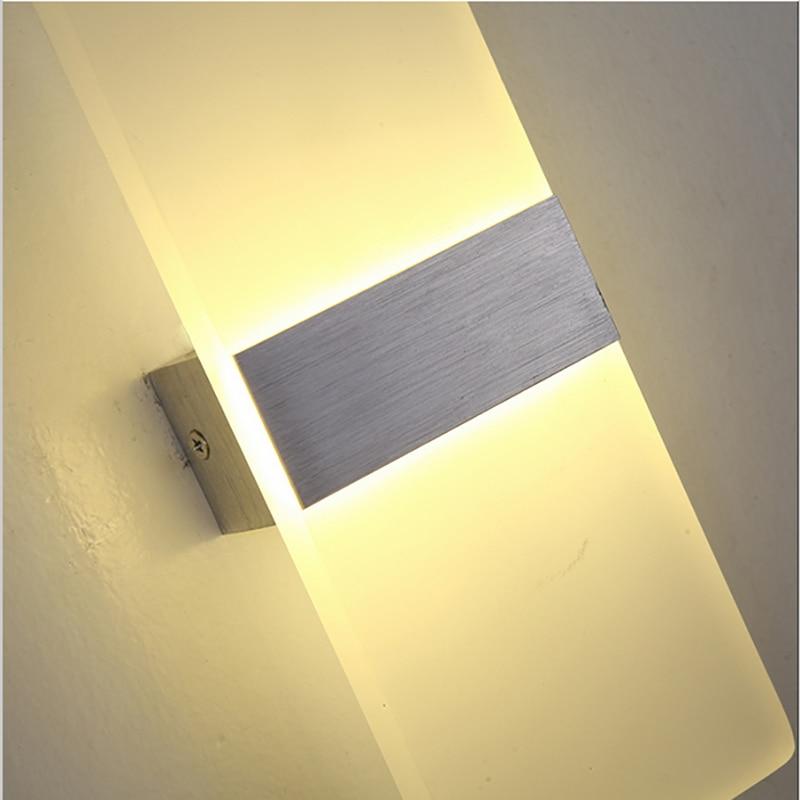 Modern LED 6W Wall Lamps Sconces Aluminum Reading Lights Fixture ...