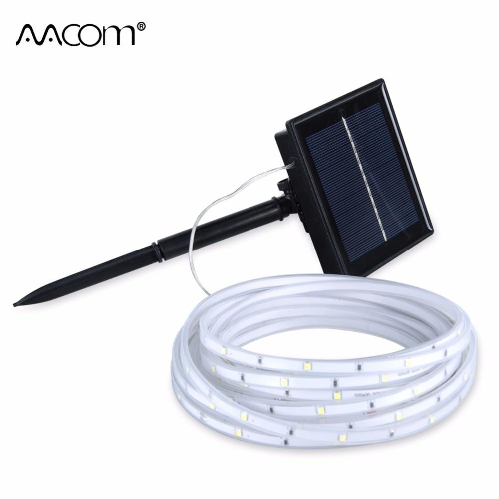 Solar LED Strip Light 2835 LED Tape IP68 Waterproof 5 Meters Lawn Light Christmas Wedding Outdoor Decoration Lighting