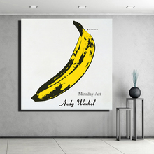 Modern Andy and Warhol Oil Painting Banana Canvas Art Wall stilllife Pictures For Living Room hand painted Home Decor best gift