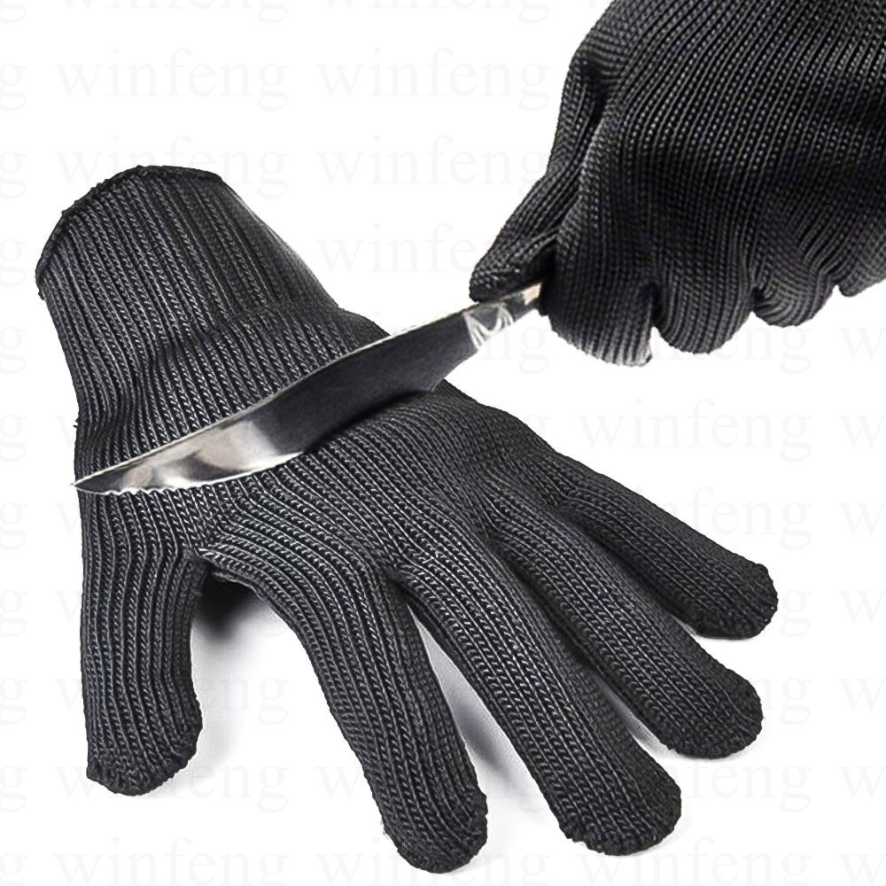 2 pairs/lot metal safety gloves cut resistant safety gloves cut-resistant protective stainless working protective gloves maritime safety