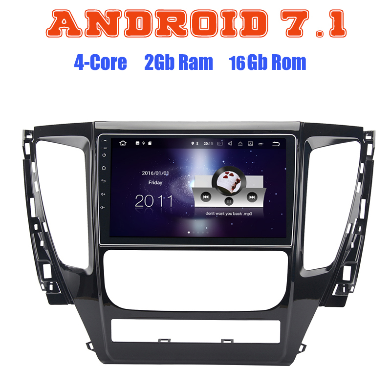 Android 7,1 Quad core радио автомобиль gps для Mitsubishi pajero sport MQ Тритон 2017 с 2 г Оперативная память Wi-Fi 4 г USB Радио RDS Аудио стерео