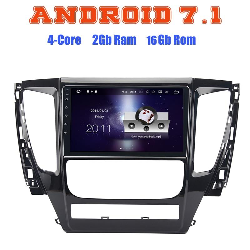 Android 7.1 Quad core de voiture radio gps pour Mitsubishi pajero sport MQ Triton 2017 avec 2G RAM wifi 4G USB radio RDS audio stéréo