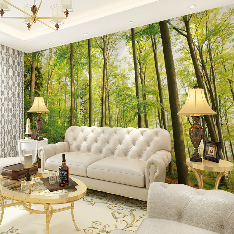 living seamless background wall scale sofa tv murals dimensional landscape three 3d