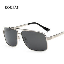ROUPAI Sunglasses Men Polarized Famous Brand Driving Male Sun Glasses Aluminium Magnesium Gozluk Vintage Rectangle Sunglases Man(China)