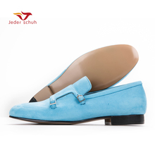 Men loafers fashion casual buckle design size cow suede shoes men flats wedding banquet and men shoes