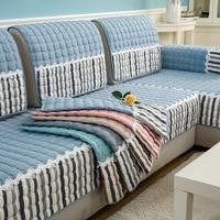 Высокое качество фланели Сгущает сочетание диванную подушку диван покрытие Нескользящие плюшевые диван Полотенца Наволочки в комплекте п