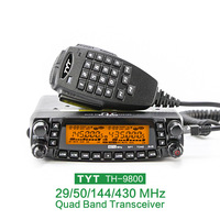 Бренд TYT TH 9800 автомобиль мобильное радио связь КВ трансивер автомобильной Ham радио станции 50 Вт двухстороннее CB двухканальные рации