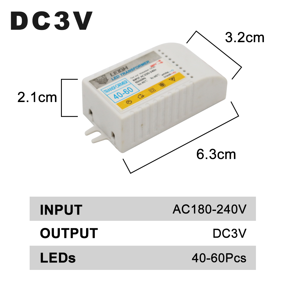 Image 3 - 1 80pcs Led Electronic Transformer 220V To DC3V Low Voltage LED Controller Power Supply LED Driver 15mA For Light Emitting Diode-in Lighting Transformers from Lights & Lighting