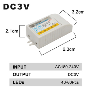 Image 3 - 1 80pcs Led Electronic Transformer 220V To DC3V Low Voltage LED Controller Power Supply LED Driver 15mA For Light Emitting Diode