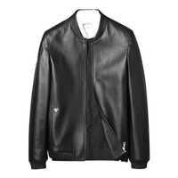 Fashion Leather Bomber Jacket Pure Leather Coat Genuine Leather Mens Jacket Collar Man Real Leather Jacket 2018 New Winter Coat