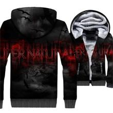Supernatural Jacket 3D Print Hoodie Men Hooded Sweatshirt Winter Thick Fleece Warm Zip up Coat Hip Hop Streetwear Plus Size 5XL body infrared pir switch motion sensor dc 5v 12v 24v human motion sensor detector led strip light lamp switch automatic