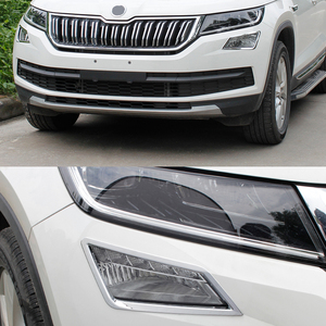 Image 3 - JY ABS Chrome Front Fog Lamp Cover Trim Car Styling Accessories Sticker For SKODA KODIAQ 2018