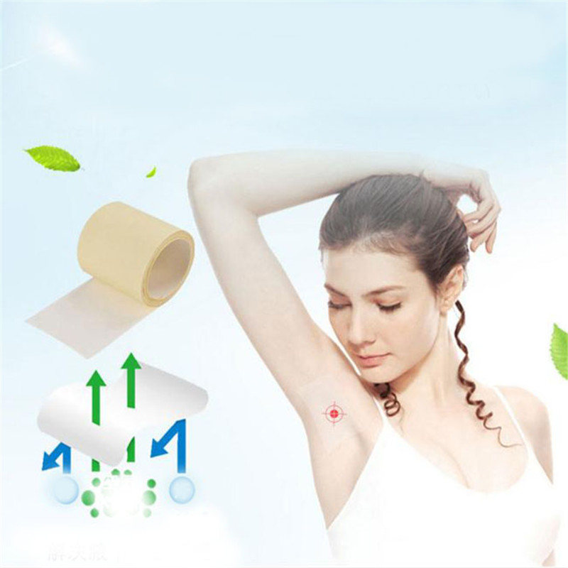 1Roll Deodorant Perspiration Disposable Anti Sweat Pads Absorb Axillary Absorbent Invisible Absorbent Armpit Sweat Pads