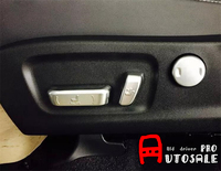 6pcs ABS Inner Car Seat Adjustment Button Decorative Cover Trim Auto Accessories For LEXUS RX200t RX450h 2016