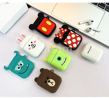 Cartoon Wireless Earphone Case For Apple AirPods 2 Silicone Charging Headphones Cases Airpods Protective Cover