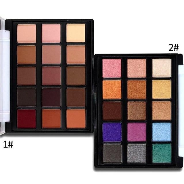 15 цветов матовые натуральные тени для век Палитра теней для век телесный век водостойкий макияж