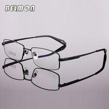 9eed7d089e Hombres espectáculo Marcos ojo Gafas titanio puro ordenador óptico Gafas  lente transparente Marcos hombre prescripción rs447