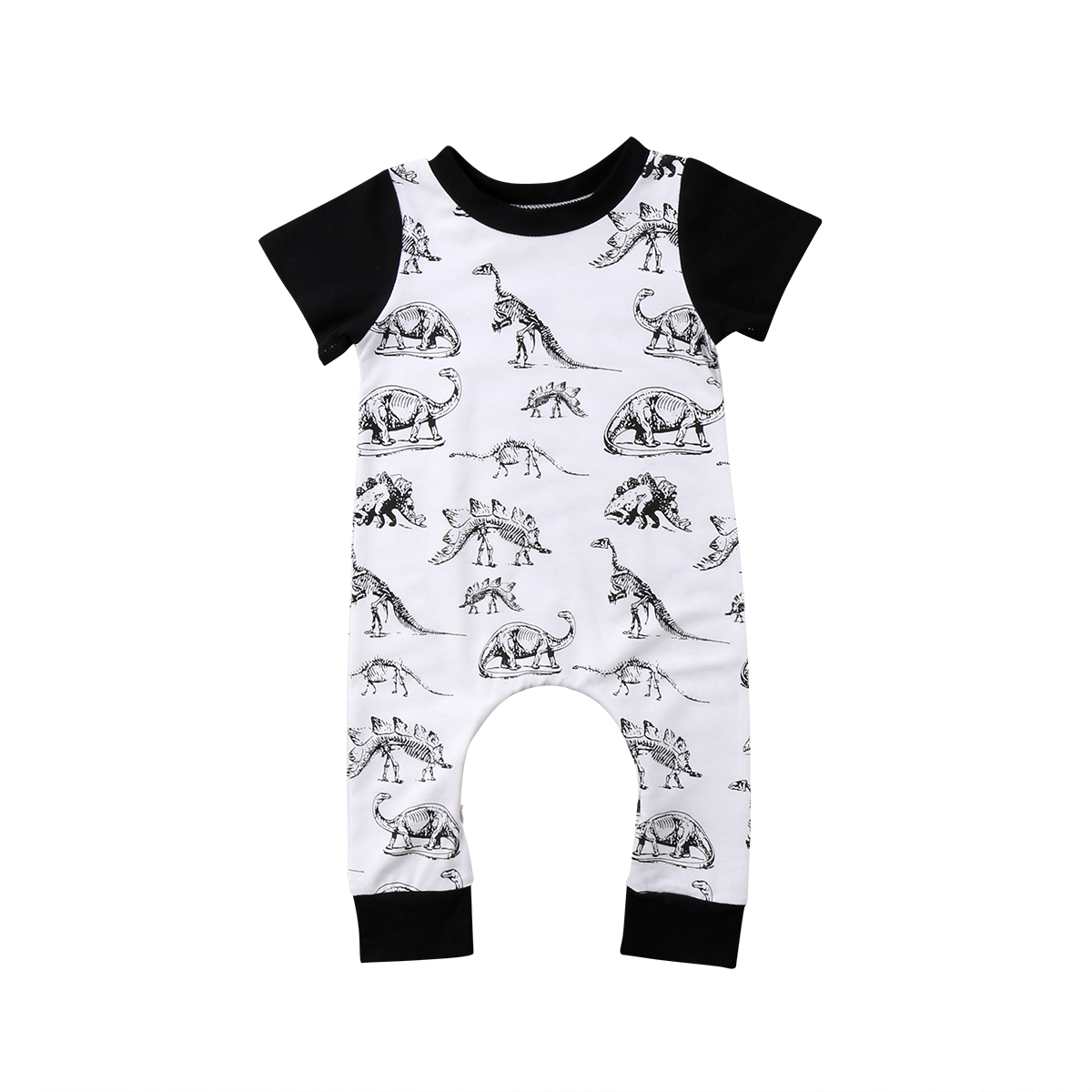 Bodysuits & One-pieces Newborn Toddler Infant Kids Baby Boy Girl Short Sleeve Animal Print Rompers Long Pant Jumpsuit Boys Girls Summer Cotton Outfits Rompers