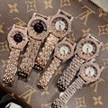 Классические нейтральные дизайнерские 2 размера женские стальные часы блестящие стразы Деловое платье бриллиантовые часы винтажные римск...