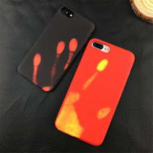 Temperature phone cases For iphone 6 6s 6plus 6s plus Phone Cover Case 7 7plus leather+TPU Phone shell Chameleon Variations Case