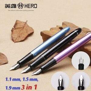 Heroes 5028 3 перья 3 в 1 из металла каллиграфия ручка искусства параллельный ручка Готический арабский курсиве uncial Замена 1.1 1.5 1.9 мм