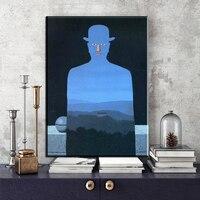 ZZ2022 Modern Abstract Portrait Canvas Art Print By Artist Rene Magritte Canvas Art Print Painting Poster