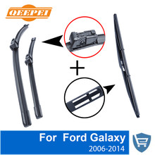 QEEPEI Front and Rear Wiper Blade no Arm For Ford Galaxy 2006-2014 High quality Natural Rubber windscreen 30+26R