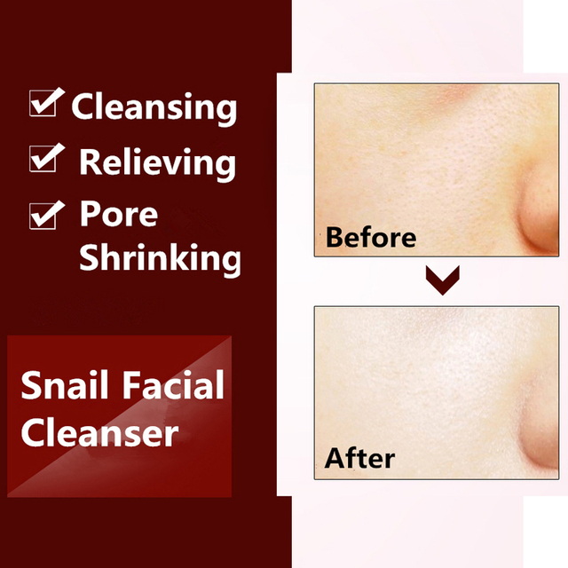 Daily Organic Natural Snail Gel Facial Cleanser