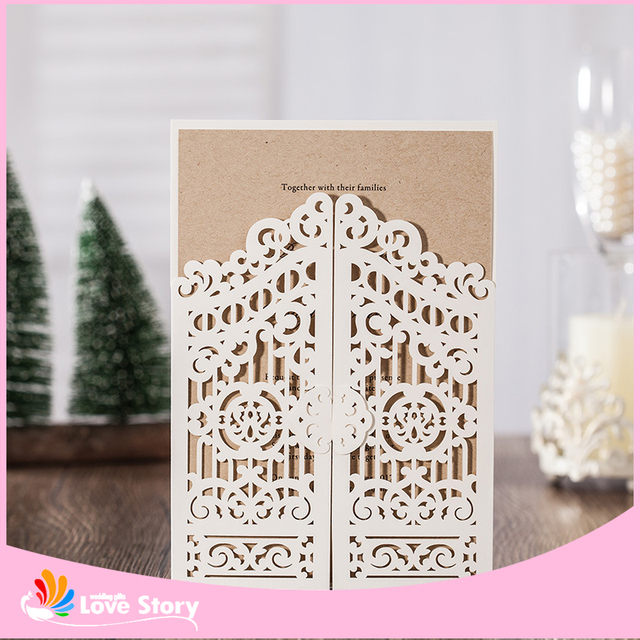 10sets Happpy Gate Design Fashion Wedding Invitation Card With