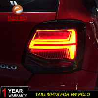 Car Styling Tail Lights Taillights case for Volkswagen VW Polo MK5 2011 2017 VW Polo Tail Lights LED Taillghts LED Rear Lamp