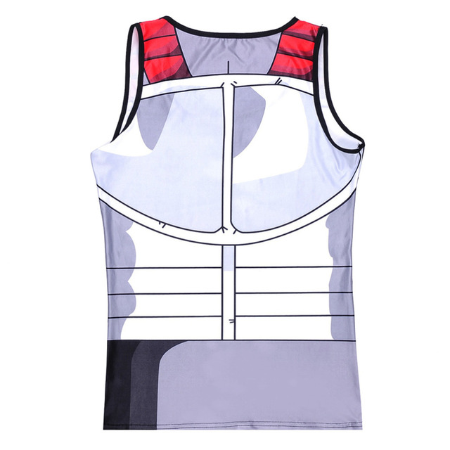 Dragon Ball Z Fitness Compression Prince Vegeta Tank Top