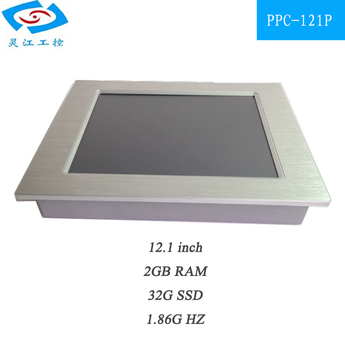 Fanless 12.1 inch Industrial Panel PC with Multi touch screen all in one pc for ATM & advertising machines