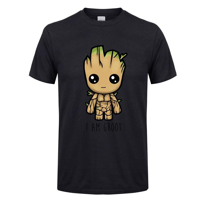 Groot t camisa masculina vingadores aliança moda verão casual menino menina camisa 2018 marca de manga curta camiseta impressão hip hop topo t