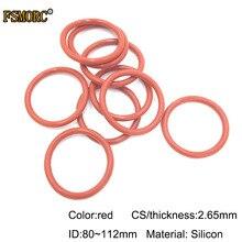 ID 80 82,5 85 87,5 90 92,5 95 97,5 100 103 106 109 112 мм* 2,65 мм Толщина бело-красные силиконовые уплотнительные кольца Еда Класс прокладка уплотнения