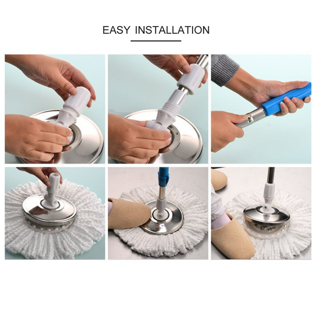 Home Magic Floor Cleaning Mop 360 Degree Rolling Spin Self-Wring Floor Mop Set