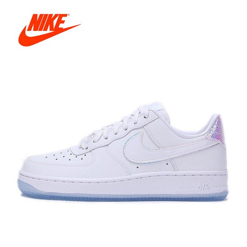 Nouvelle Arrivée Authentique Nike Air Force 1 AF1 femmes Dur-boucle d'oreille Skate Chaussures De Sport Baskets